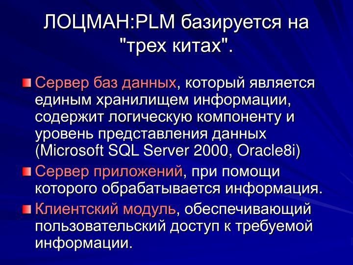 """ЛОЦМАН:PLM базируется на """"трех китах""""."""