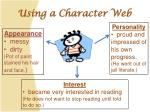 using a character web