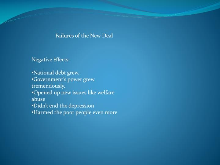 Failures of the New