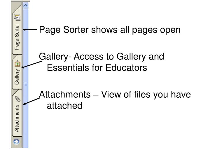 Page Sorter shows all pages open