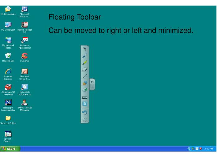 Floating Toolbar