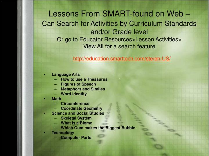 Lessons From SMART-found on Web –
