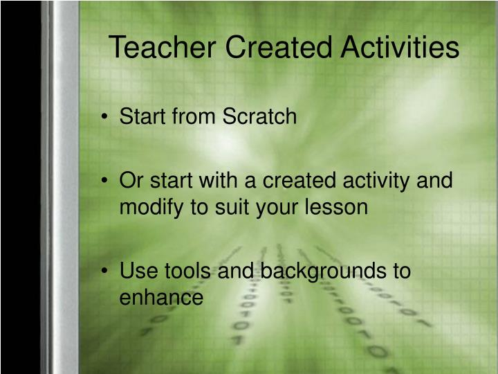 Teacher Created Activities