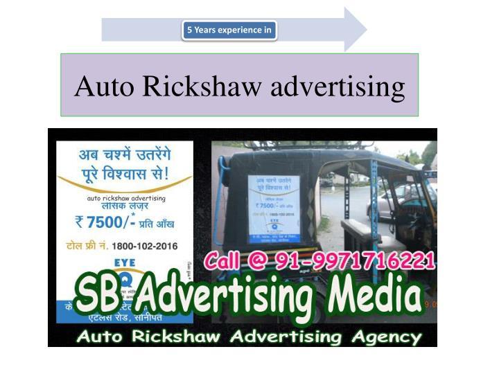A uto r ickshaw advertising