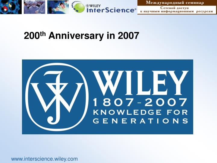 200 th anniversary in 2007