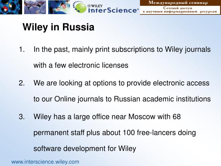 Wiley in Russia