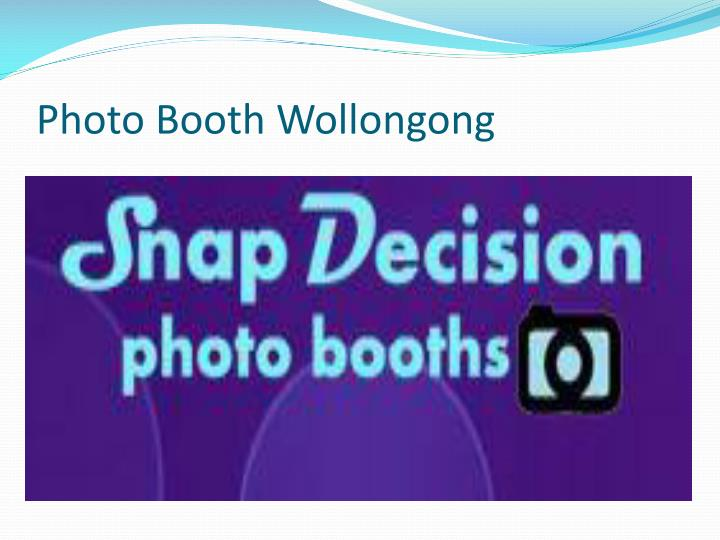 Photo booth wollongong