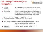 the oversight committee oc composition