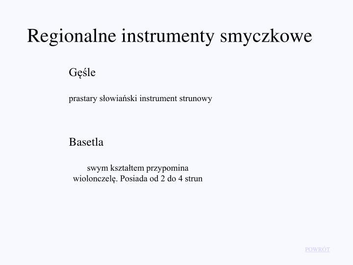 Regionalne instrumenty smyczkowe