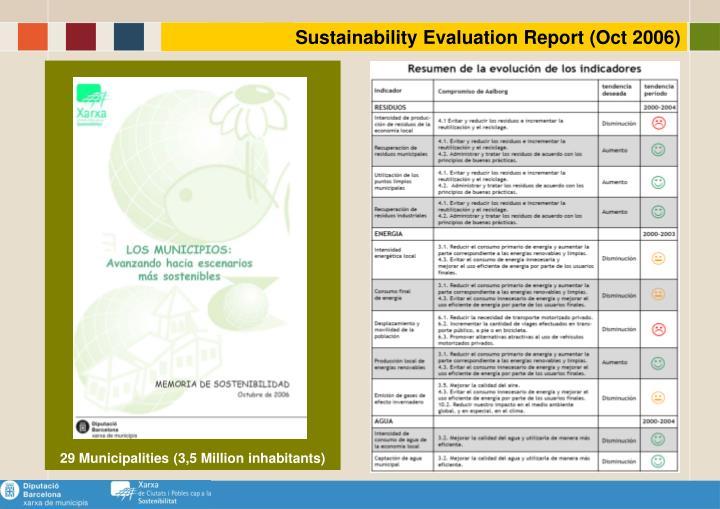 Sustainability Evaluation Report (Oct 2006)