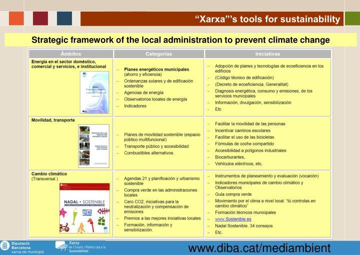 """""""Xarxa""""'s tools for sustainability"""