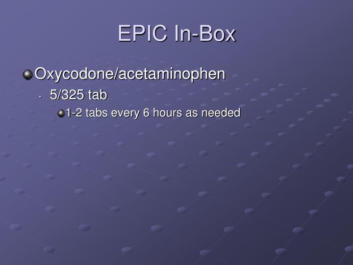 EPIC In-Box