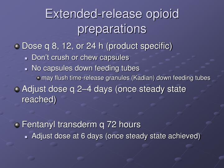Extended-release opioid preparations