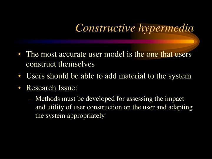 Constructive hypermedia