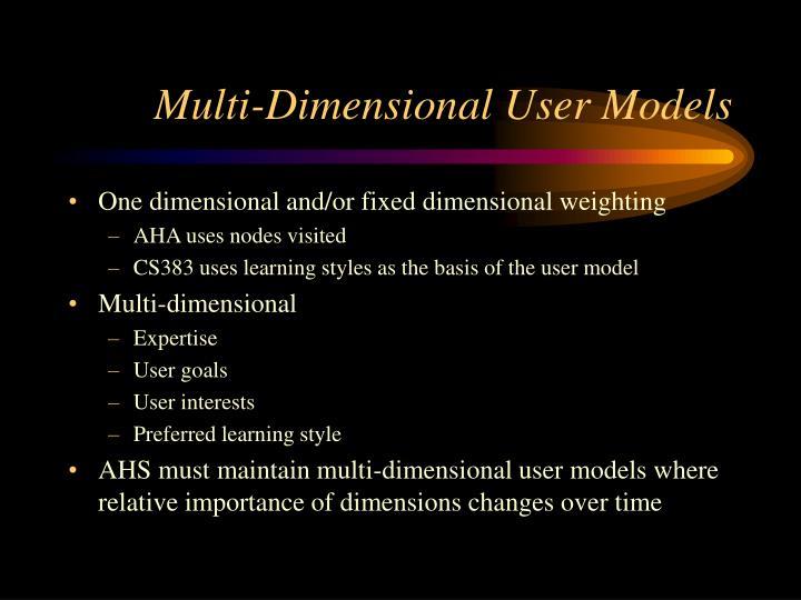 Multi-Dimensional User Models