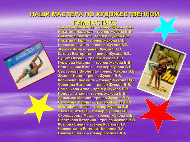 Нигматулина Юлия – тренер Жукова И.Б.