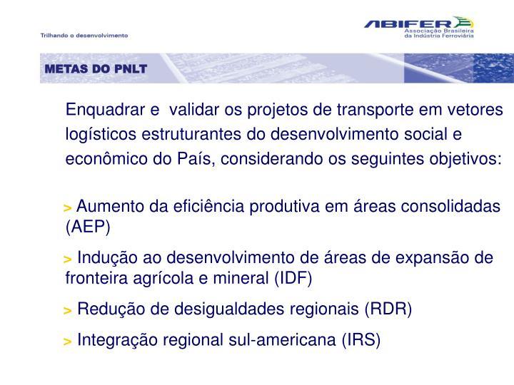 METAS DO PNLT