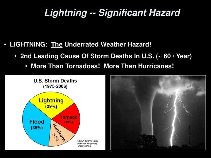Lightning -- Significant Hazard