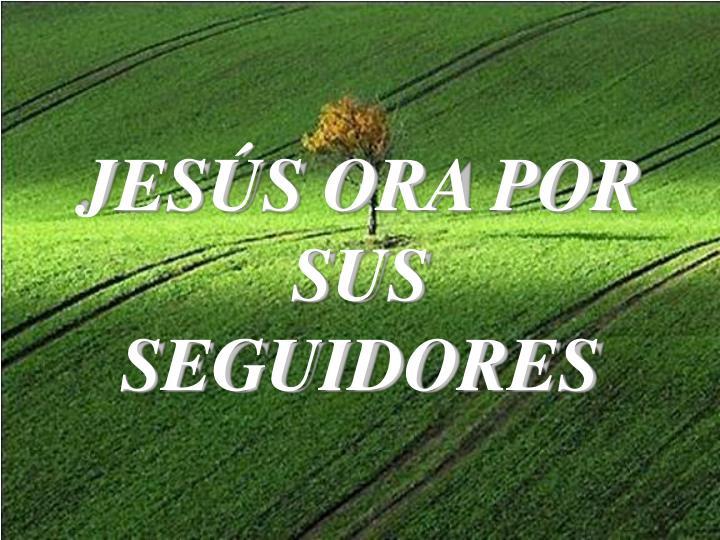 JESÚS ORA POR SUS SEGUIDORES