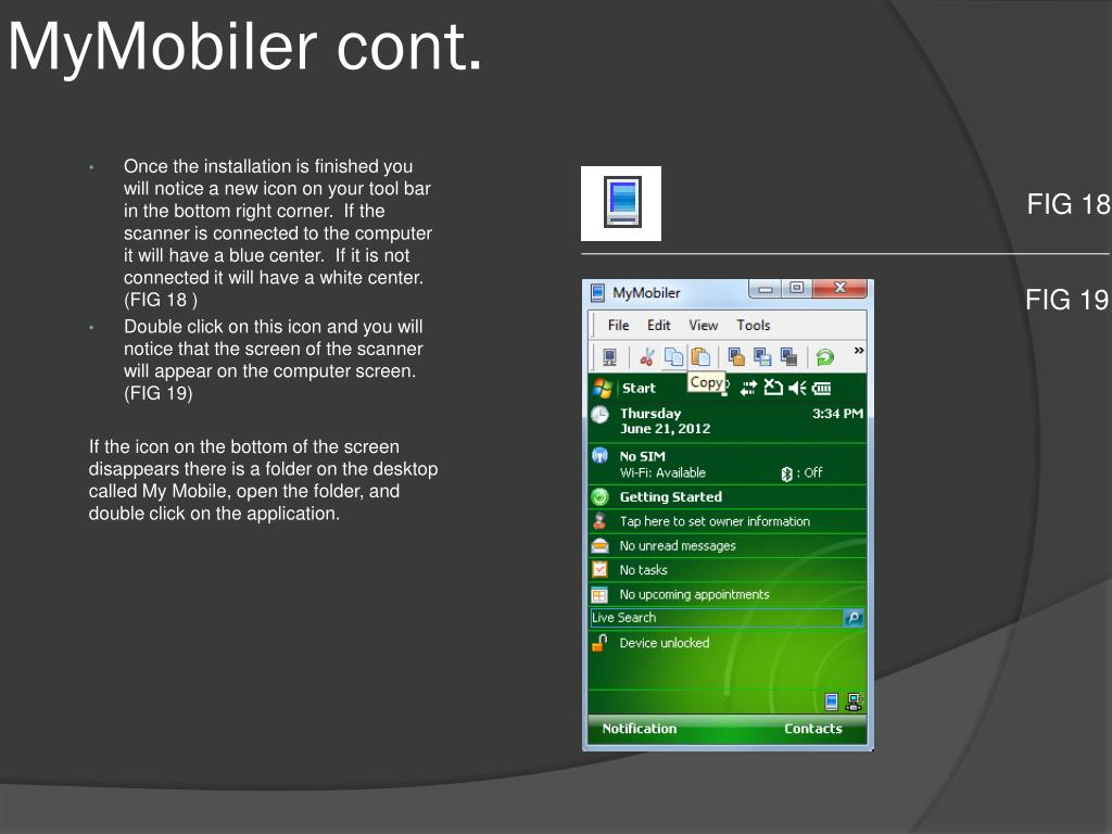 PPT - Installing Windows Mobile Device C enter, Active Sync