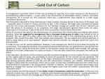 gold out of carbon