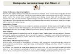 strategies for increasing energy that attract 2