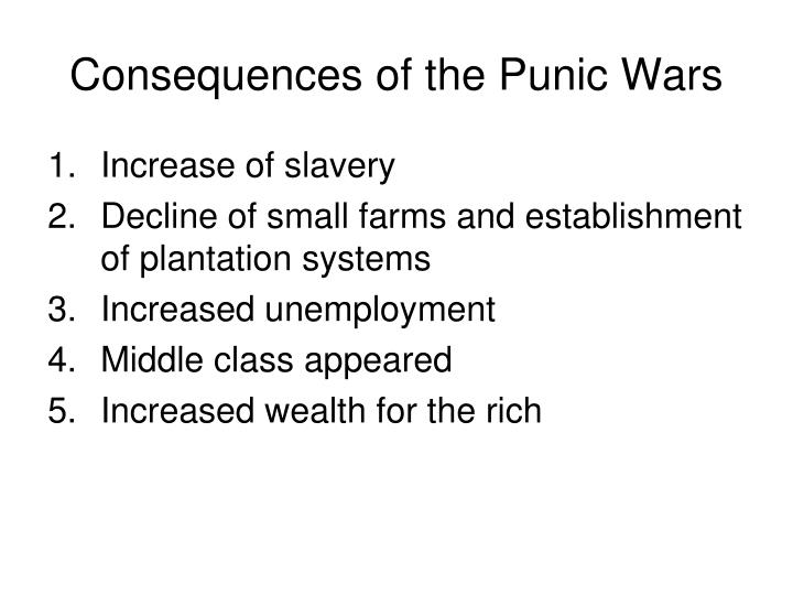 Consequences of the Punic Wars
