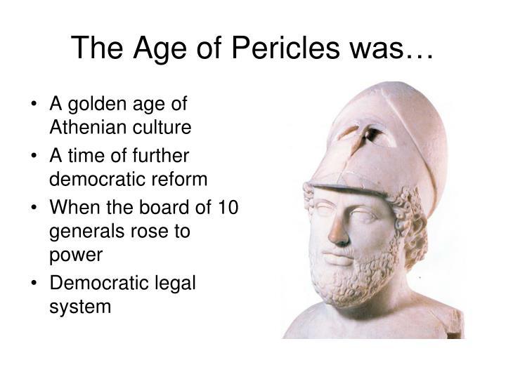 A golden age of Athenian culture
