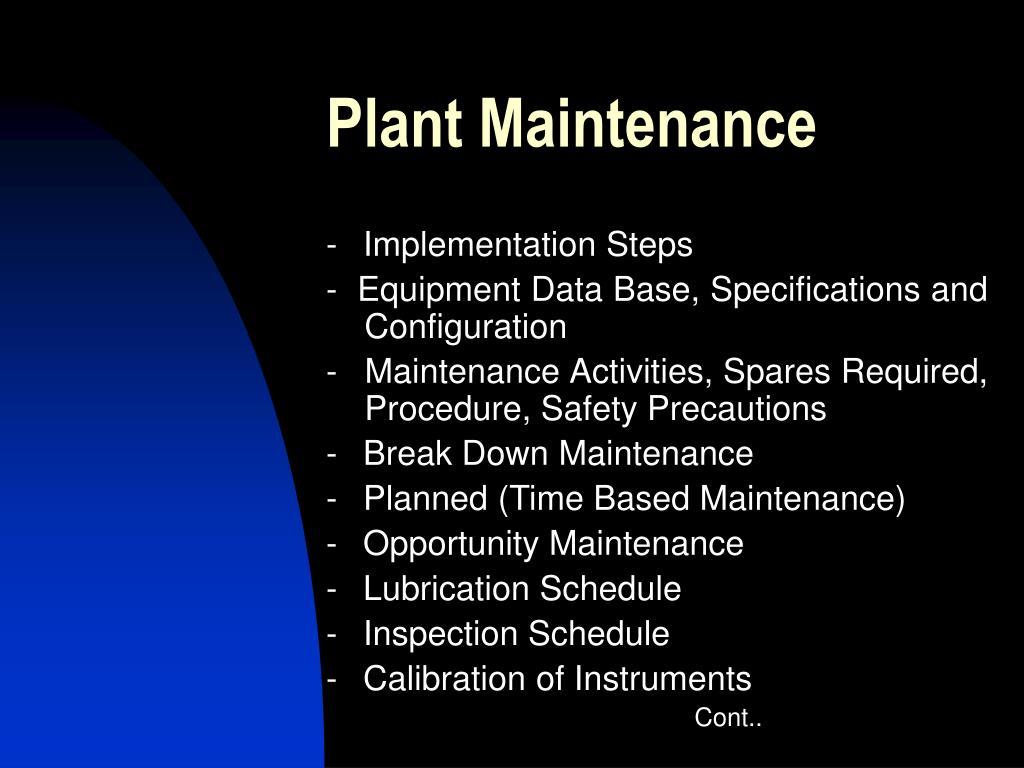 PPT - Total Productive Maintenance PowerPoint Presentation