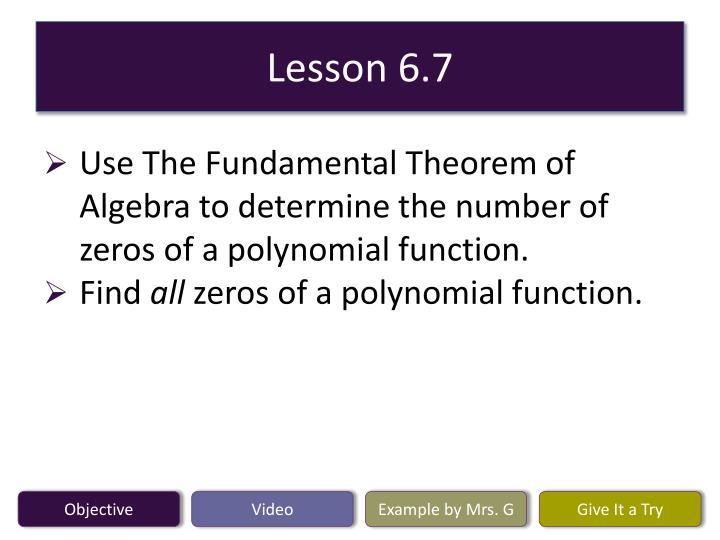 Lesson 6 7