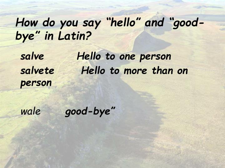"""How do you say """"hello"""" and """"good-bye"""" in Latin?"""