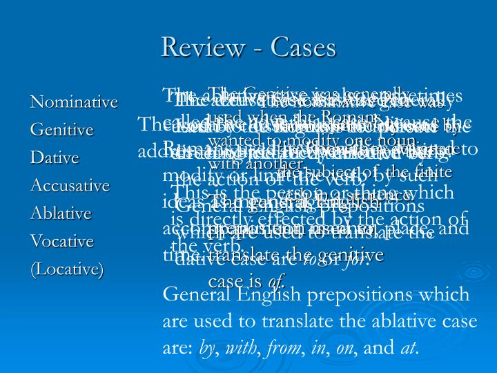Review cases