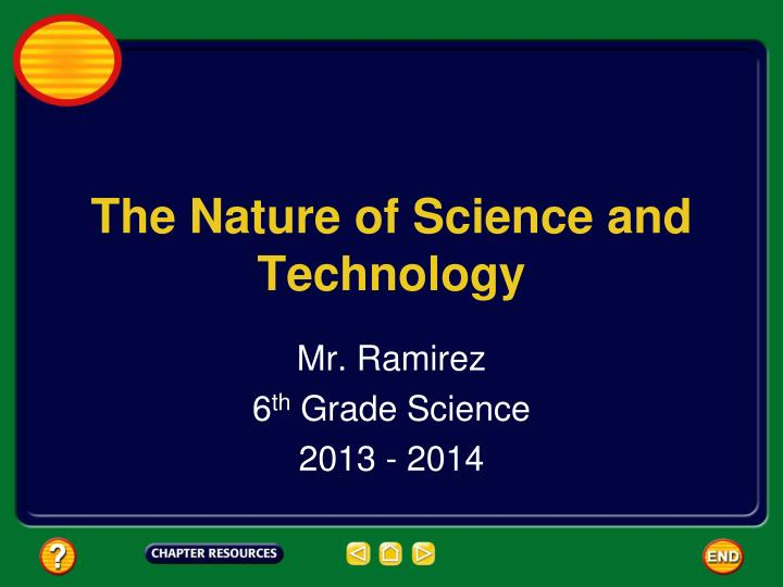 the nature of science and technology n.