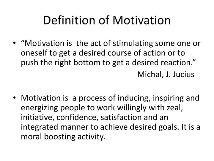 definition of motivation n.