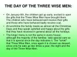 the day of the three wise men