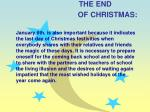 the end of christmas