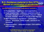 b 2 guidance material in doc 9774 manual on certification of aerodromes1