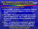 b 2 guidance material in doc 9774 manual on certification of aerodromes11