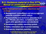b 2 guidance material in doc 9774 manual on certification of aerodromes13