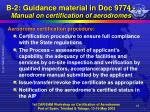 b 2 guidance material in doc 9774 manual on certification of aerodromes3