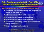 b 2 guidance material in doc 9774 manual on certification of aerodromes4