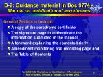 b 2 guidance material in doc 9774 manual on certification of aerodromes5