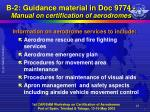 b 2 guidance material in doc 9774 manual on certification of aerodromes8
