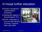 in house further education1