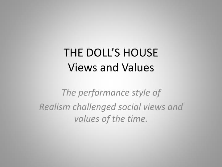 a dolls house drama analysis realism and Realism and naturalism - ibsen and 'the doll's house' details are also the thing in the sphere of psychology god preserve us from generalisations.