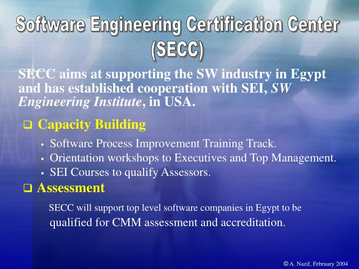 Software Engineering Certification Center