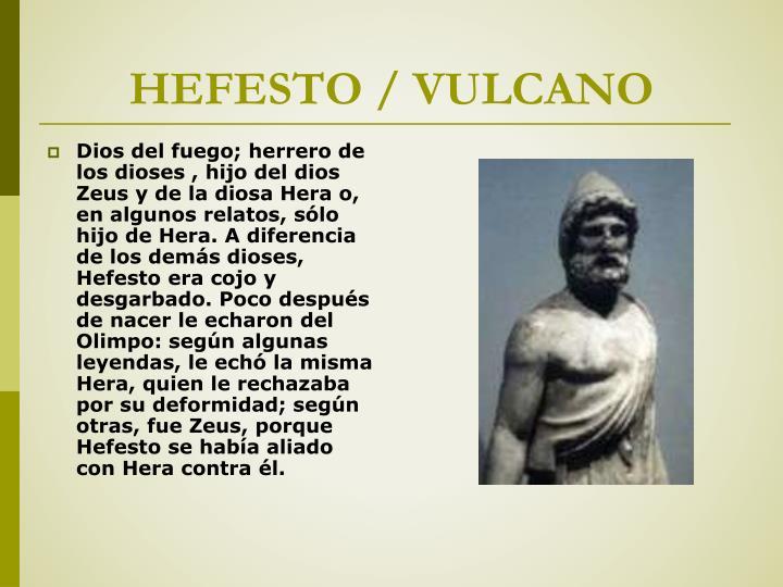 HEFESTO / VULCANO