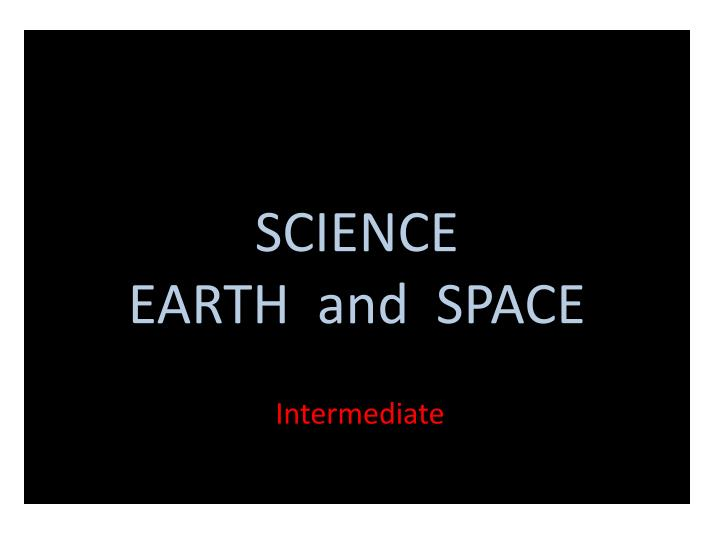 science earth and space n.