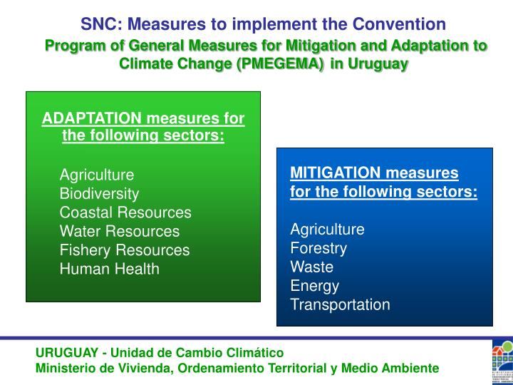 SNC: Measures to implement the Convention