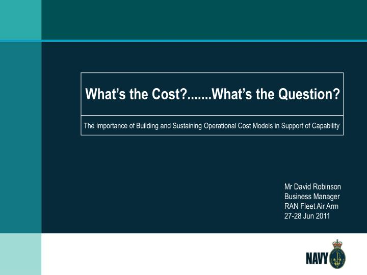 What s the cost what s the question